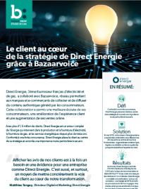 Couverture livre blanc Témoignage : Direct Energie