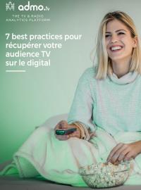 Couverture livre blanc 7 best practices pour récupérer votre audience TV sur le digital
