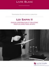 Couverture livre blanc Loi Sapin II | Enjeux, contribution et solutions pour les Directions Achats