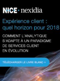 Couverture livre blanc L'expérience client : quel horizon pour 2018 Comment l'analytique s'adapte à un paradigme de services client en évolution