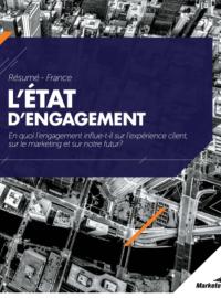 """Couverture livre blanc Rapport sur """"L'état d'engagement"""" client"""
