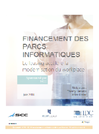 Couverture FINANCEMENT DES PARCS INFORMATIQUES : Le leasing accélère la modernisation du workplace