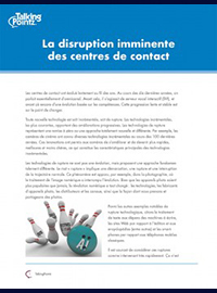 Couverture La disruption imminente des centres de contact