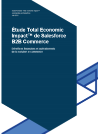 Couverture Étude Total Economic Impact™ de Salesforce B2B Commerce