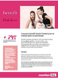 Couverture livre blanc Découvrez les clés du succès d'un programme de parrainage avec Benefit cosmetics