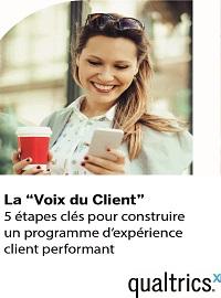 Couverture livre blanc La « Voix du Client » : 5 étapes clés pour construire un programme d'expérience client performant.