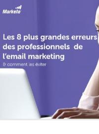 Couverture livre blanc Les 8 plus grandes erreurs des professionnels de l'email marketing et comment les éviter