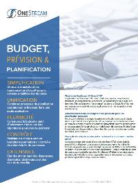 Couverture Une Solution Unifiée: Budget, Prévision, Planification.
