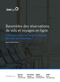 Couverture Baromètre des réservations de vols & voyages en ligne