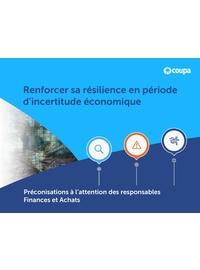 Couverture livre blanc Renforcer sa résilience en période d'incertitude économique: préconisations à l'attention des responsables Finances et Achats