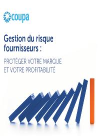 Couverture livre blanc Gestion du risque fournisseurs : Protéger votre marque et votre profitabilité