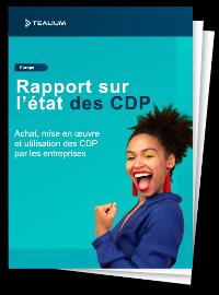 Couverture livre blanc Rapport sur l'état des CDP (Customer Data Plateforme)