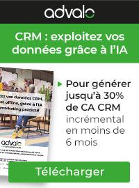 Couverture livre blanc CRM: 25 cas d'usages pour exploiter vos données grâce à l'IA et au marketing prédictif