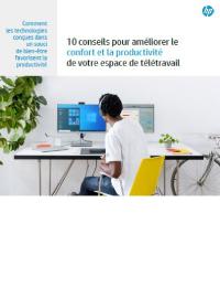 Couverture livre blanc 10 conseils pour améliorer le confort et la productivité de votre espace de télétravail