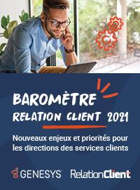 Couverture [EBOOK] Baromètre Relation Client 2021