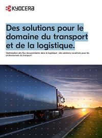 Couverture Des solutions pour le domaine du transport et de la logistique.