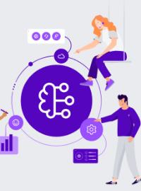Couverture livre blanc Intelligence Artificielle: 5 étapes pour amener les centres de contacts à une expérience client digne de Netflix