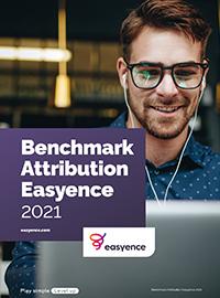 Couverture livre blanc Benchmark de l'Attribution Marketing - Premier semestre 2021