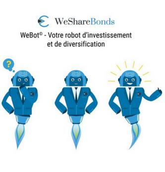 WeShareBonds lance WeBot©, le nouveau robot d'investissement dans le crowdfunding