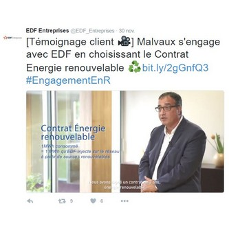 Le témoignage vidéo : le choix d'EDF Entreprises pour valoriser l'expérience de ses clients