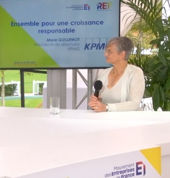 Les défis de KPMG pour réussir sa croissance responsable expliqué par la Présidente du Directoire Marie Guillemot.