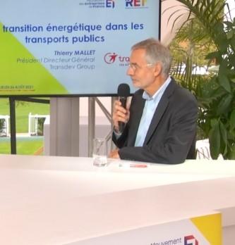La transition énergétique dans les transports publics selon Thierry Mallet le Président Directeur Général de Transdev