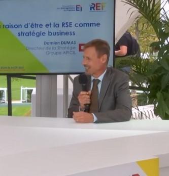 La raison d'être et la RSE comme stratégie business expliqué par le Directeur de la Stratégie chez Apicil, Damien Dumas.