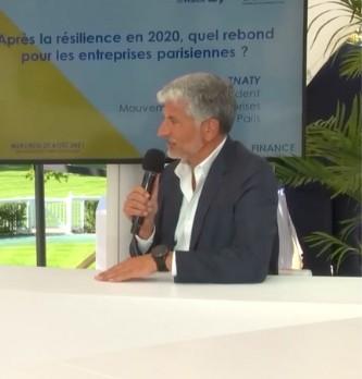 La vision de Charles Znaty sur le rebond pour les entreprises parisiennes après la résilience en 2020.