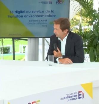 En quoi le digital peut-être au service de la transition environnementale selon Bertrand Camus Directeur Général de Suez