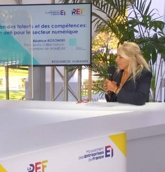Gestion des talents et des compétences : un défi pour le secteur numérique avec Béatrice Kosowski, présidente d'IBM France, membre de NUMEUM